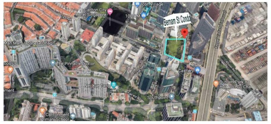 One Bernam Aerial Location