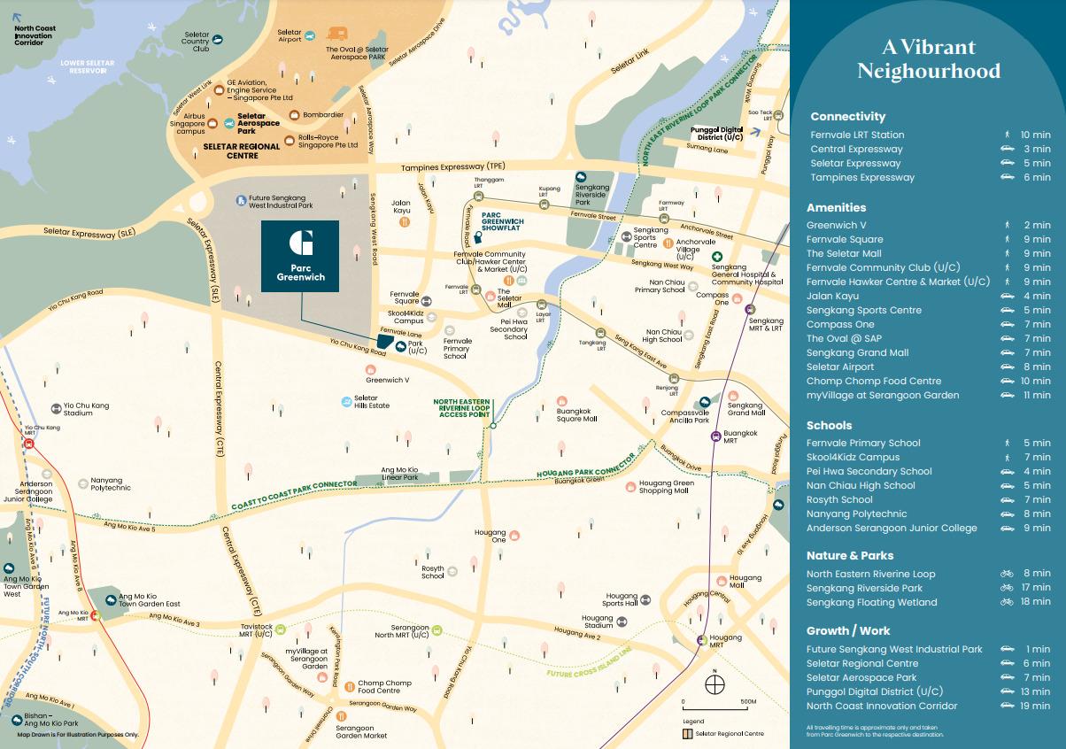 Parc Greenwich Location Map