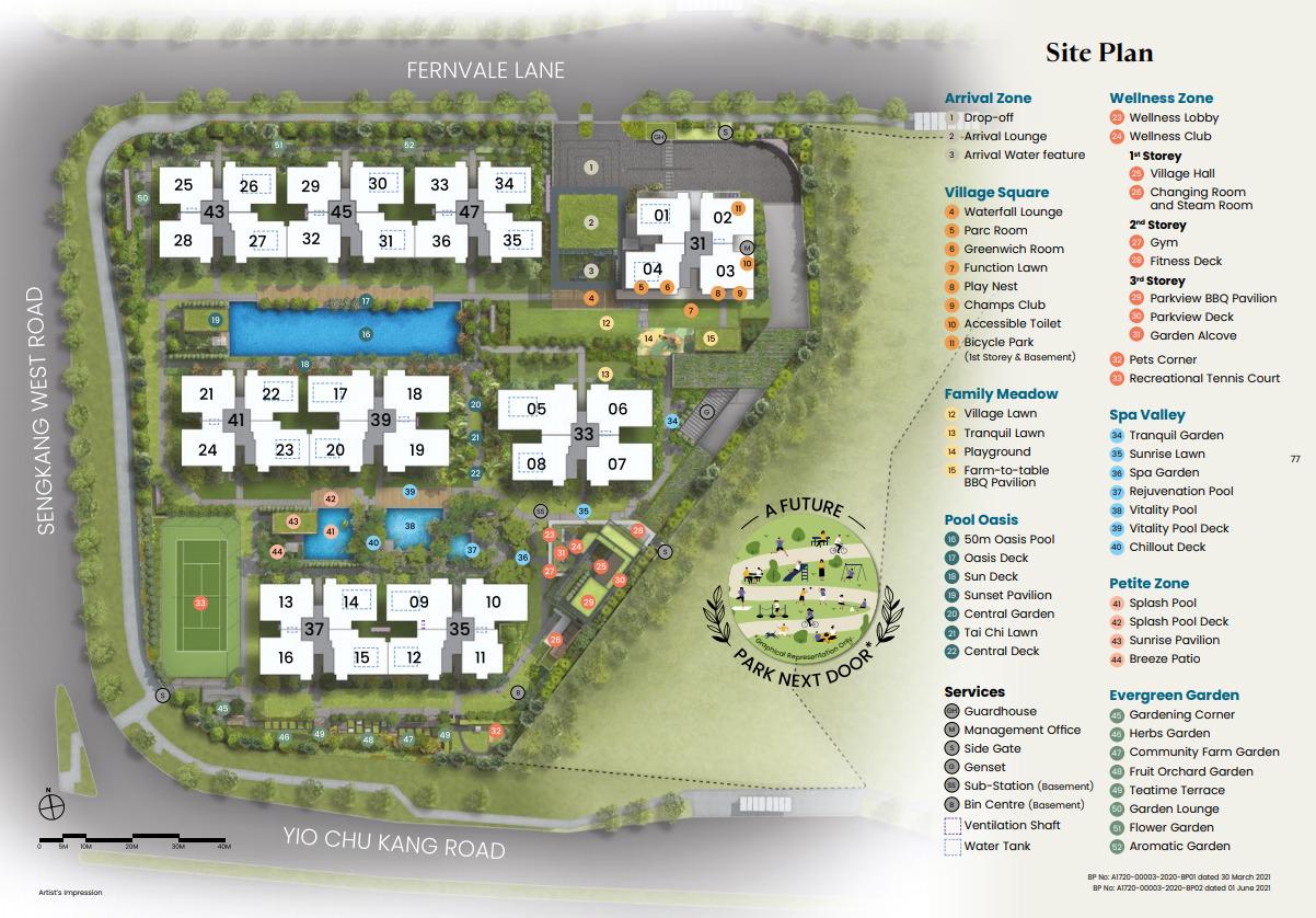 Parc Greenwich Siteplan